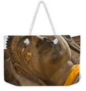 Face Of A Reclining Buddha Weekender Tote Bag