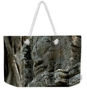 Face Of Stone Weekender Tote Bag