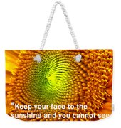 Face To The Sun Weekender Tote Bag