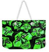 Faces - Green Weekender Tote Bag