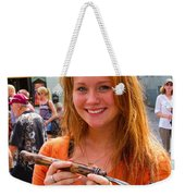 Faces Of Tallinn Estonia Weekender Tote Bag by David Smith
