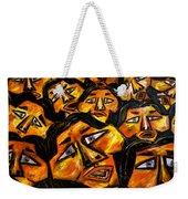 Faces Yellow Weekender Tote Bag