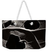 Facial Foliage Weekender Tote Bag