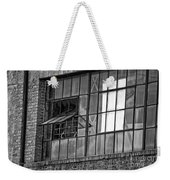 Factory Air In New Orleans In Black And White Weekender Tote Bag