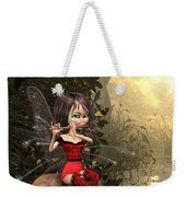 Forest Fairy Playing The Flute Weekender Tote Bag