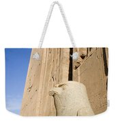 Falcon Statue At Edfu Weekender Tote Bag by Darcy Michaelchuk