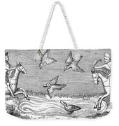 Falconry, 14th Century Weekender Tote Bag
