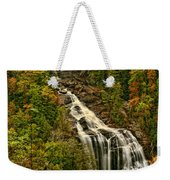 Fall At Whitewater Falls  Weekender Tote Bag