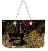 Fall Bench Dreams Weekender Tote Bag