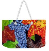 Fall Cabernet Sauvignon Grapes Weekender Tote Bag by Mike Robles