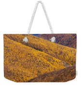 Fall Colours Along Top Of The World Weekender Tote Bag