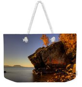 Fall Colours In The Squaw Bay Fallen Rock Weekender Tote Bag