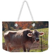 Fall Cow Weekender Tote Bag
