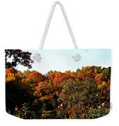 Fall Foliage And Roses Weekender Tote Bag