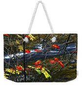 Fall Forest And River Weekender Tote Bag by Elena Elisseeva
