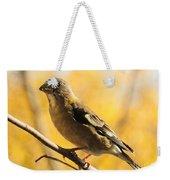 Fall Grosbeak Weekender Tote Bag
