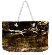 Fall Log Reflection Weekender Tote Bag