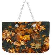 Fall Maple Leaves On Water Weekender Tote Bag