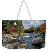 Fall On Swift River Weekender Tote Bag