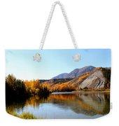 Fall Pond Weekender Tote Bag