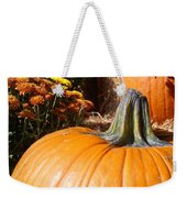 Fall Pumpkin Weekender Tote Bag