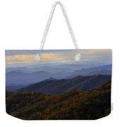 Fall Sunset On The Blue Ridge Weekender Tote Bag