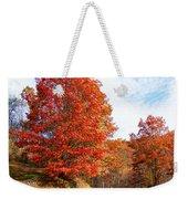 Fall Tree By The Road Weekender Tote Bag