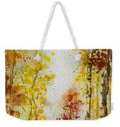Fall Tree In Autumn Forest  Weekender Tote Bag