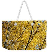 Fall Trees Art Prints Yellow Autumn Leaves Weekender Tote Bag