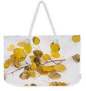 Fallen Autumn Aspen Leaves Weekender Tote Bag