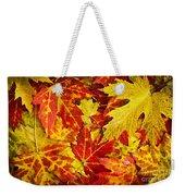 Fallen Autumn Maple Leaves  Weekender Tote Bag