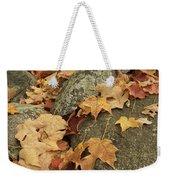 Fallen Autumn Sugar Maple Leaves Weekender Tote Bag