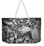 Fallen Feathers Black And White Weekender Tote Bag
