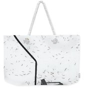 Fallen Lamplight In Snow Weekender Tote Bag