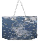 Fallen Leaves And Reflections Of Clouds Weekender Tote Bag