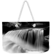 Falling Water Black And White Weekender Tote Bag