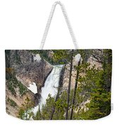 Falls In The Grand Canyon Of Yellowstone Weekender Tote Bag