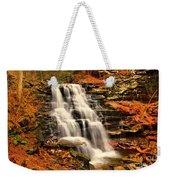 Falls In The Woods Weekender Tote Bag