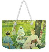 Family In The Orchard Weekender Tote Bag
