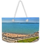 Family Time At The Erie Basin Marina Weekender Tote Bag