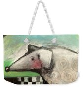 Fancy Dog At Picnic With Water Dish Weekender Tote Bag