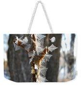 Fancy Fractal Frost Crystals Weekender Tote Bag