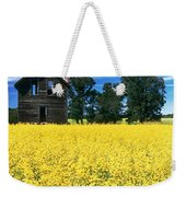 Farm House And Canola Field, Holland Weekender Tote Bag