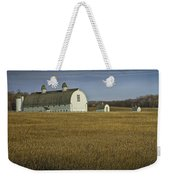 Farm Scene With White Barn Weekender Tote Bag