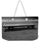 Farm Wagon In A Field On Prince Edward Island Weekender Tote Bag