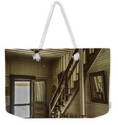Farmhouse Entry Hall And Stairs Weekender Tote Bag by Lynn Palmer