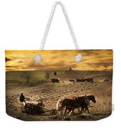 Farming Rain Race Weekender Tote Bag