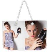 Fashion Collage Weekender Tote Bag
