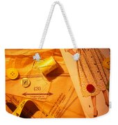Fashion Old Dress Pattern Weekender Tote Bag by Garry Gay