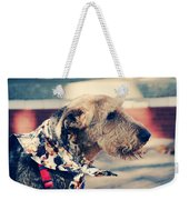 Airedale On The Fashion Runway Weekender Tote Bag